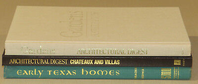 Lot of 3 Vintage Coffee Table Decor Library Architectural Homes Gardens Texas
