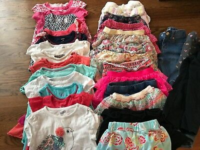Huge LOT of Girls Spring Summer 55+pc Items Mixed Clothing outfits Sets Sz 4 4t