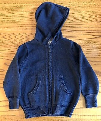 Old Navy Boys Navy Blue Uniform Hoodie Hooded Sweater Size 3T