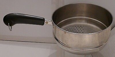 Revere Ware Stainless Steamer Pot Insert with Handle for 2 & 3 Quart Pots CC