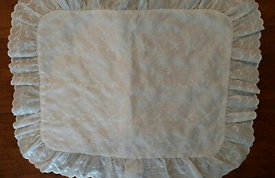 Dan River White Eyelet Pillow Sham Standard Size Excellent Condition