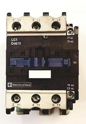 Telemecanique LC1 D4011G6   120V 60Hz  Contactor France