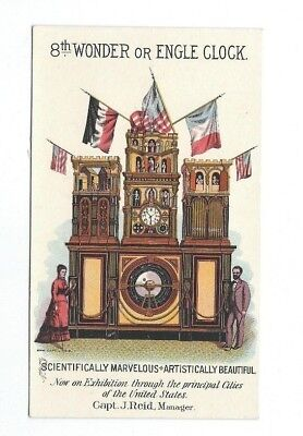 Circa 1880's 8th Wonder Or Engle Clock $50,000 Challenge Trade Card