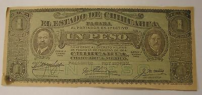 1924 Publicity Syndicate New York Advertising Chihuahua Peso Facsimile-not money
