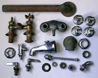 Vintage, Antique Plumbing Parts, And Faucets Lot, Group