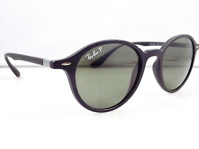 Ray Ban Polarised Liteforce Matte Gatsby Round Sunglasses & case
