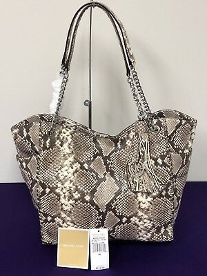 6ca665e0ede9 Michael Kors Whipped Chelsea Natural Large Snake Embossed Leather Tote  548