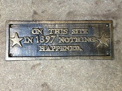 Wall Plaque Cast Iron Bronze Color Fnish Free US Priority Shipping Great Gift