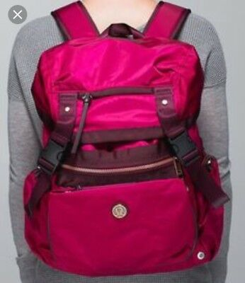 Lululemon All Day Backpack In Maroon/Red Satin
