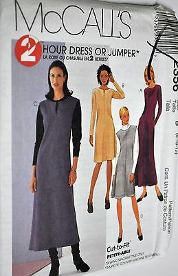 OOP McCALLS 2356 MS//Wmns 2 Hour Dress or Jumpers PATTERN 8-10-12//20-22-24 UC