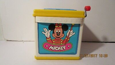 Mattel Mickey Mouse Jack in the Box 1987