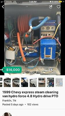 TRUCKMOUNT CARPET CLEANING MACHINE Hydro Master.  4.8 4000 psi 4 Gpm with salsa