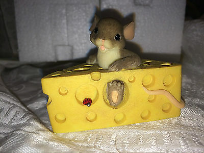 """Charming Tails """"SAY CHEESE"""" SIGNED BY DEAN GRIFF SWISS CHEESE"""