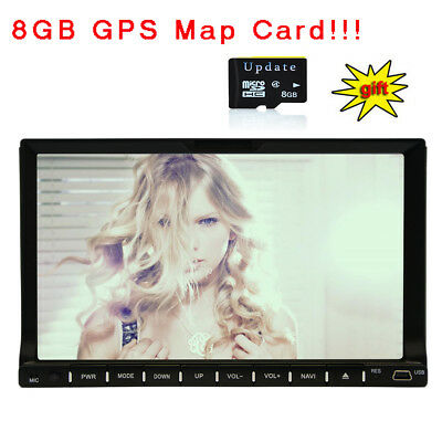 "7"" Double 2Din Car Stereo Radio DVD Player GPS Navigation Bluetooth USB Camera"