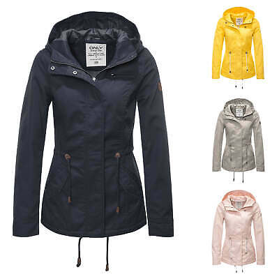 Only Damen Parka Übergangsjacke Kurzmantel Kapuzenjacke Jacke Color Mix NEU SALE