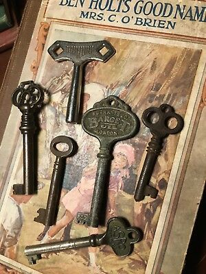 Fab Collection of Vintage / Antique Cabinet Keys  / Clock Key