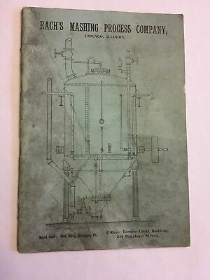 Rach's Mashing Process Company 32pg Pamphlet Pre Prohibition Beer