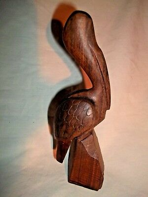 Vintage Hand Carved Wooden Pelican
