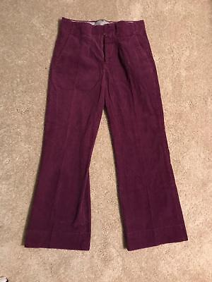 "Vintage 70's H.I.S. Purple Corduroy Bell Bottoms (32"" x 31"")"