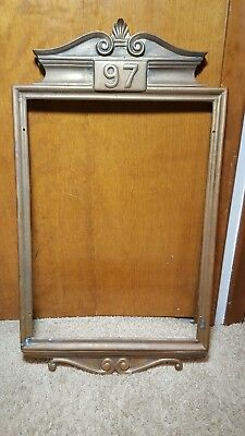Vintage Antique Fine Original Solid Brass Fire Station/Firehouse Metal Frame 97