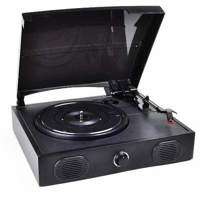 Vibe Sound VS-2002-SPK USB Record Player Turntable with Built-In Speakers