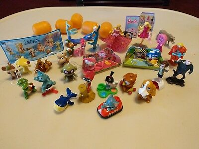 Kinder Surprise Egg Toys LOT Barbie Elsa Ice age Pony Hello Kitty Mini Fugures