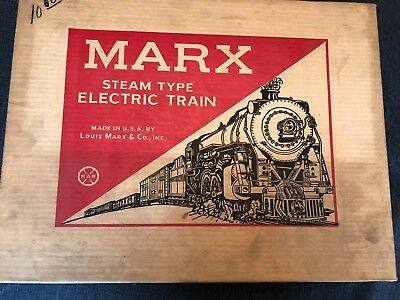 Marx  Inc. Steam TRAIN set Electric STEAM Engine Caboose Track NICE  # 4225 Box