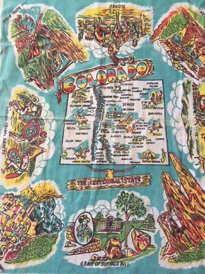 Vintage Colorado Table Cloth