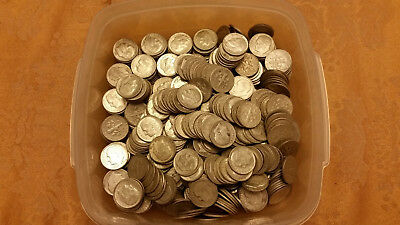 HUGE Lot of 601 mixed date Roosevelt 90% Silver Dimes!