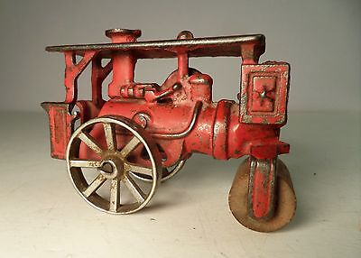 Early Hubley Huber Red Road Roller 3 1/2""