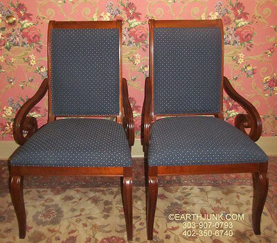 Ethan Allen Upholstered 2 Arm Chairs 20 7841 used with British Classics