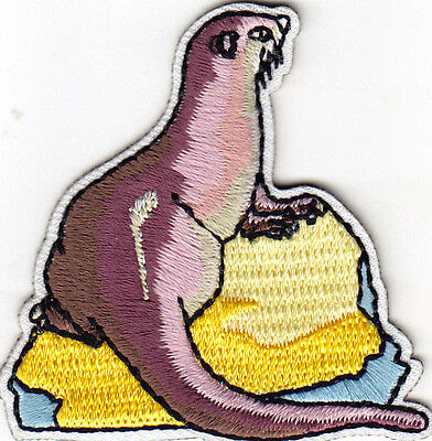 OTTER -  SEA CREATURE - OCEAN - MAMMAL - Iron On Embroidered Applique Patch