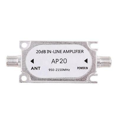 Satellite 20dB In-line Amplifier 950-2150MHz Signal Booster For Antenna