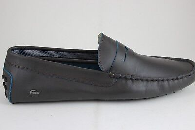 fe71a1af571 Lacoste Men s Concours 10 SRM Slip-On Dark Brown Leather 27SRM1208176 Brand  New