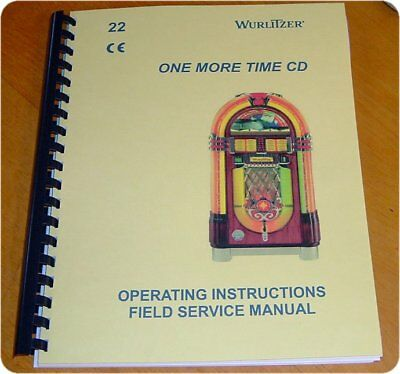 Wurlitzer 1015 OMT CD Jukebox MANUAL - One More Time - new