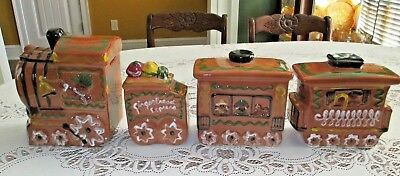 Hull Pottery 2004 Commemorative Gingerbread Express Train Set 4 pieces