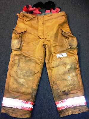 44x30 Pants Firefighter Turnout Bunker Fire Gear Securitex S305 +Suspenders P775