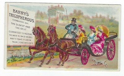Barry's Tricopherous late 1800's medicine trade card