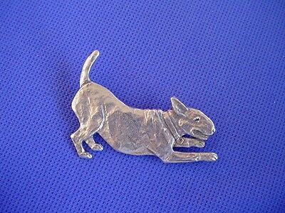 Bull Terrier Pewter Pin Playing pose #69D DOG jewelry by Cindy A. Conter