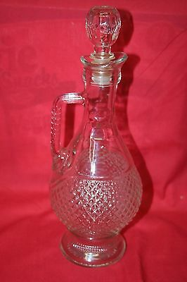 Wine Decanter Glass, Stamped 1976 Nice Collectible!