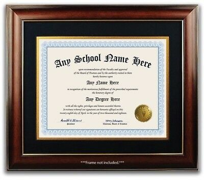 University College High School Personalized Diploma w/ Gold Seal Novelty Blue