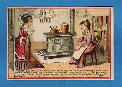 West Duxbury Ma ~ Early Ad Card ~ Diamond Dyes Sold By Hiram Randal ~ 445
