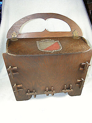 Outstanding Vintage Arts And Crafts or Mission Design Sewing Work Box