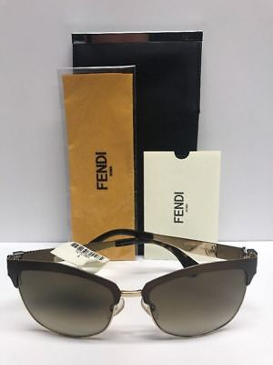 7eee4a9768 FENDI FF 0051 S MOCCC Brown Sunglasses Made in Italy Authentic COA CASE