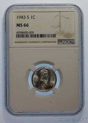 1943-S Lincoln Cent NGC MS66