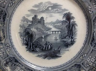 "Antique T J & J MAYER Staffordshire Plate 10"" FLORENTINE Pattern"