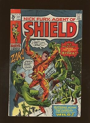 Nick Fury Agent of SHIELD 17 FN 6.0 * 1 Book Lot * HYDRA! Stan Lee & Jack Kirby!