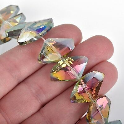 24mm Galactic Beads Crystal NORTHERN LIGHTS AB, 18 beads, bgl1634