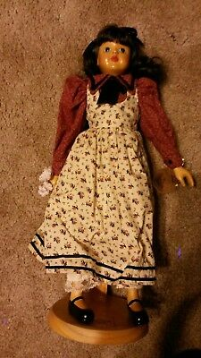 """Abigail Robert Raikes Doll 17"""" Applause Co Hang Tag Wood Stand"""
