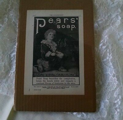 Pears' Soap PRINT Advertising Vintage Pear's Soap Ad The Independent Journal Ads